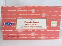 Nag Champa Fresh Rose 15g 12 Pack