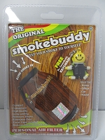 The Original Smoke Buddy Personal Air Filter Wood Edition