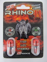Rhino 11 Double Pill  Platinum 18K