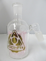 Sci-Fi Glass 11 Arm 19mm Ash Catcher (Pink)