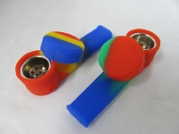 Silicone Pipe w/ Solid Colors 1ct Style#1