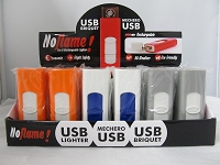 USB Coil Rechargeable Lighter 24ct Display