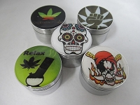 57mm Emblem 4 Part Aluminum Grinder