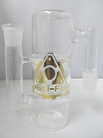 Sci-Fi Glass Double Turbine Perc 19mm Ash Catcher