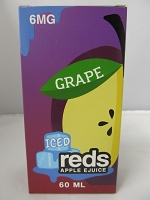 Iced Reds Grape E-Juice 6mg Nicotine 60ml
