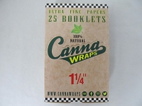Canna Wraps Rolling Papers Natural 1-1/4 24 Booklets