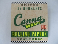 Canna Wraps Rolling Papers Natural King Size 24 Booklets