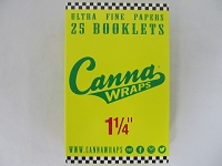 Canna Wraps Rolling Papers 1-1/4 24 Booklets