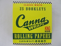Canna Wraps Rolling Papers King Size 24 Booklets