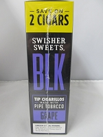 Swisher Sweet BLK Grape Cigars 15ct/2 Cigar Upright
