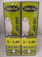White Owl Cigarillos 2 for $1.49 ~ 30ct Pouch (White Grape)