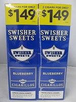 Swisher Sweet Cigarillos 2/$1.49 ~ 30ct Pouch (Blueberry)