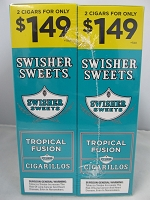 Swisher Sweet Cigarillos 2/$1.49 ~ 30ct Pouch (Tropical Fusion)