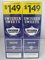 Swisher Sweet Cigarillos 2/$1.49 ~ 30ct Pouch (Grape)
