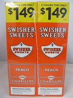 Swisher Sweet Cigarillos 2/$1.49 ~ 30ct Pouch (Peach)