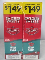 Swisher Sweet Cigarillos 2/$1.49 ~ 30ct Pouch (Wild Rush)
