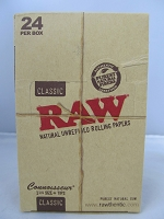 Raw Connoisseur Classic 1-1/4 Rolling Papers w/Tip 24Booklets 32Leaves