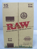 Raw Organic Artesano 1-1/4 15ct 32leaves (Tray+Paper+Tips)