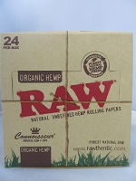 Raw Organic Connoisseur King Size Slim Rolling Papers w/Tip 24Booklets 32Leaves