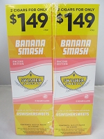 Swisher Sweet Cigarillos 2/$1.49 ~ 30ct Pouch (Banana Smash)