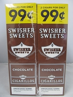 Swisher Sweet Cigarillos 2/99¢ ~ 30ct Pouch (Chocolate)