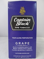Captain Black Pipe Tobacco 6ct 1.5oz Pouch (Grape)