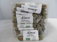 Linse Organic Bee's Wax Hemp Wick 3.5 feet 100ct Display
