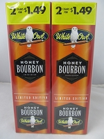 White Owl Cigarillos 2 for $1.49 ~ 30ct Pouch (Honey Bourbon)