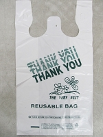 Thank You Reusable Bag White 12inX7inX22in 200pcs