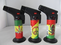 Large Torch w/ Stand Rasta Leaf Sticker 1ct