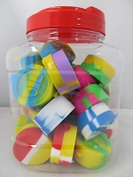 Silicone Jar w/ Two Compartment Mix Color 30ct Jar