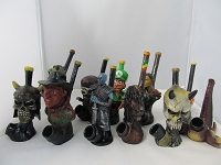 Resin Character Pipe Assorted Designs