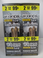 Sweet Woods by Good Times 2/99¢ ~ 60ct Pouch (Russian Cream)