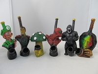 Resin Character Pipe Assorted Designs #2 & Artistic u0026 Novelty Water Pipes u0026 Bubbles | AAA Glasspipes