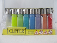Clipper Refillable Lighter Mini Translucent 48ct Display
