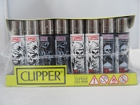 Clipper Refillable Lighter Skulls8 48ct Display
