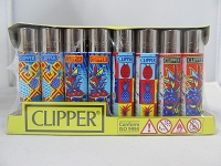 Clipper Refillable Lighter Hipster Pineapple 48ct Display