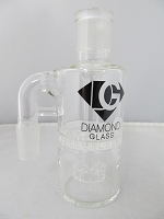 Diamond Glass 19mm 90degree Honey Comb Ash Catcher