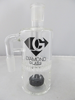 Diamond Glass 14mm 90 degree Black Honey Comb Ash Catcher