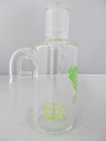 Diamond Glass 14mm 90 degree Lime Green Showerhead Stem Ash Catcher