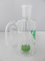 Diamond Glass 19mm 90 degree Slime Green Showerhead Stem Ash Catcher
