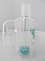 Diamond Glass 14mm 90 degree Sky Blue Showerhead Stem Ash Catcher