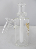 Diamond Glass 14mm 45 degree White Honey Comb Stem Ash Catcher