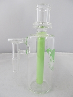 Diamond Glass 14mm 90 degree Slime Green Honey Comb Stem Ash Catcher