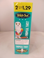 White Owl 2 For $1.29 Tropical Twist Cigarillos 15ct Display