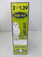 White Owl 2 For $1.29 White Grape Cigarillos 15ct Display