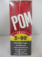 Pom Pom 3/99¢ Sweet Cigarillos 15ct Display