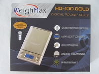 Weigh Max W-HD100 Gold w/ 50g Calibration Weight