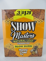 Show Masters Natural Leaf Cigarillos 3 For $1.29 ~ 15ct Pouch (Honey Gold)