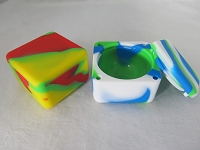 Square Block Silicone Wax Container